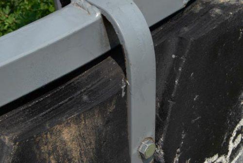 round bale feeder tire straps
